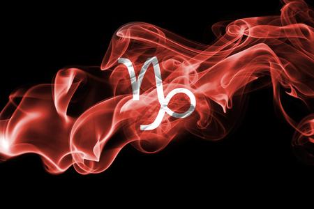 Smoky Capricorn zodiac astrology sign for horoscope Stock Photo