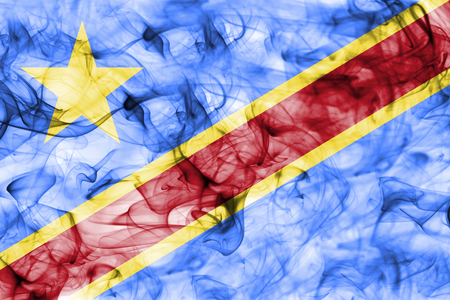 Democratic Republic of the Congo smoke flag Stock Photo