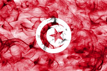Tunisia smoke flag