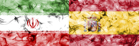Iran vs Spain smoke flag