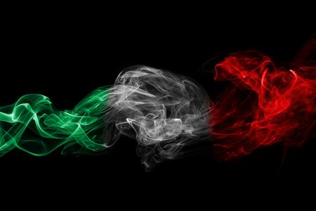 Italy flag smoke