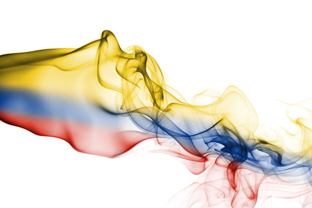 Colombia smoke flag 免版税图像