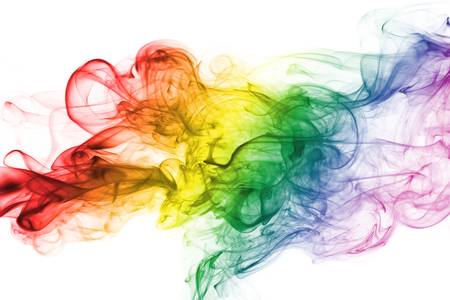 Colorful rainbow smoke, gay pride flag colors, LGBT community flag Imagens