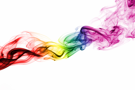 Colorful rainbow smoke, gay pride flag colors, LGBT community flag Stock Photo
