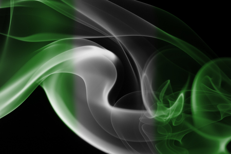 Nigeria smoke flag Stock Photo - 95998668