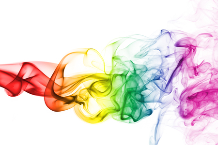 Colorful rainbow smoke, gay pride flag colors, LGBT community flag Standard-Bild