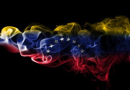 Venezuela smoke flag Stock fotó