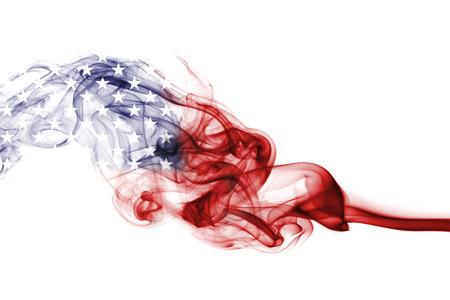 Bandera de Estados Unidos humo, bandera de Estados Unidos