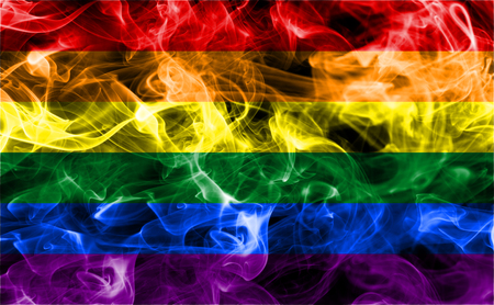 Gay smoke flag, LGBT pride flag