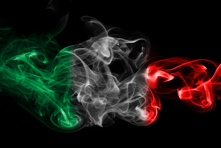 Italy flag smoke Banque d'images