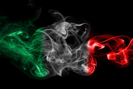 Italy flag smoke Imagens