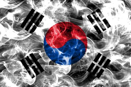 South Korea smoke flag Фото со стока