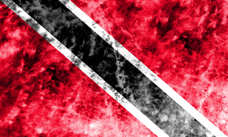 Old Trinidad and Tobago grunge background flag
