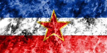 Old Yugoslavia grunge background flag Stock Photo