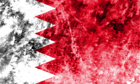 Old Bahrain grunge background flag