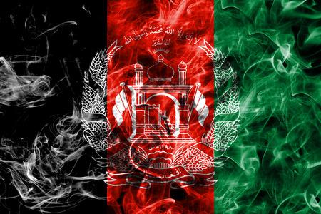 Afghanistan smoke flag 写真素材