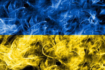 Ukraine smoke flag
