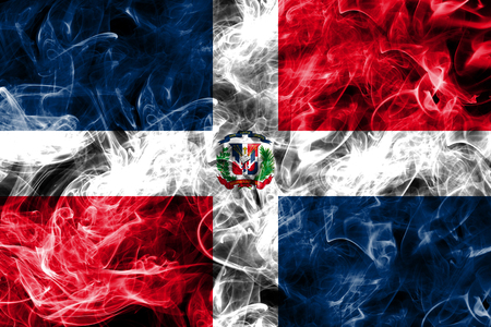 Dominican Republic smoke flag