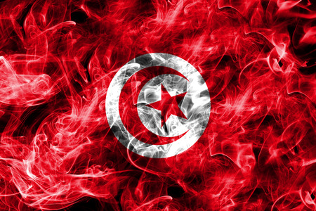 Tunisia smoke flag