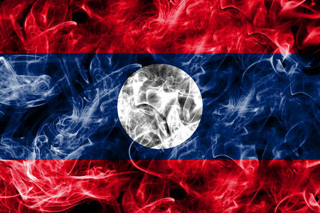 Laos smoke flag 免版税图像