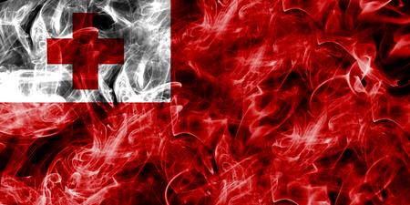 Tonga smoke flag Stock Photo