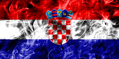 Croatia smoke flag