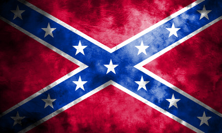 Old Confederate Navy Jack grunge background flag