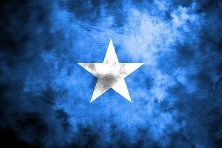 Old Somalia grunge background flag