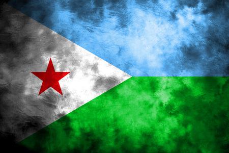 Old Djibouti grunge background flag