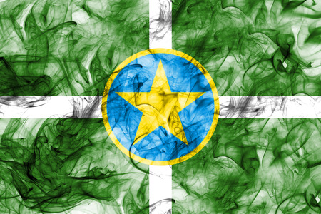 Jackson city smoke flag, Mississippi State, United States Of America