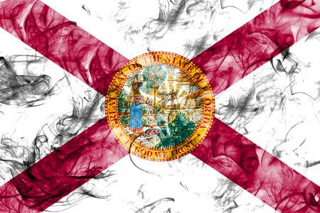 Florida state smoke flag, United States Of America Stock Photo