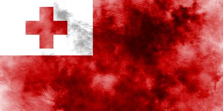 Old Tonga grunge background flag