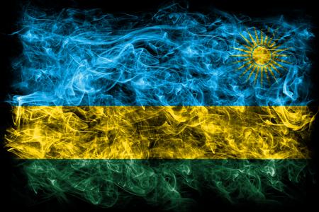 Rwanda smoke flag Stock Photo