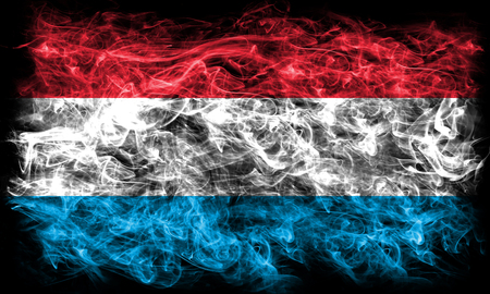 Luxembourg smoke flag