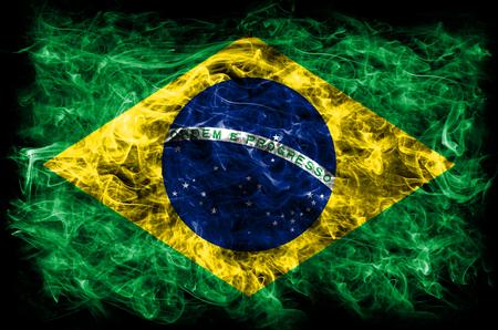 Brazil smoke flag Foto de archivo