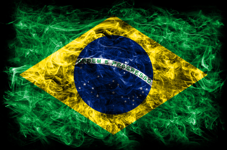Brazil smoke flag Imagens