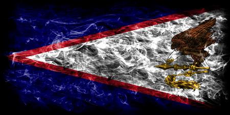 American Samoa smoke flag, United States dependent territory flag Stock Photo