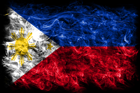 Philippines smoke flag Stock Photo