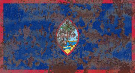 Guam grunge flag, United States dependent territory flag Banco de Imagens