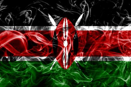 Kenya smoke flag Zdjęcie Seryjne - 100146559