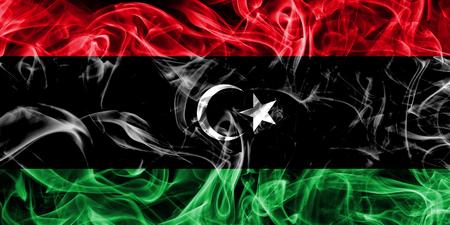 Libya smoke flag Foto de archivo