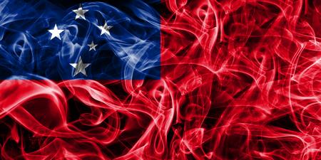 Samoa smoke flag Stock Photo