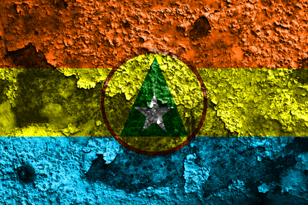 Cabinda proivnce grunge flag, Angola dependent territory flag