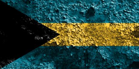 Old Bahamas grunge background flag Stock Photo