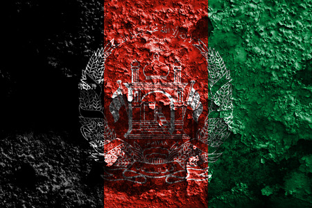 Old Afghanistan grunge background flag Stock Photo