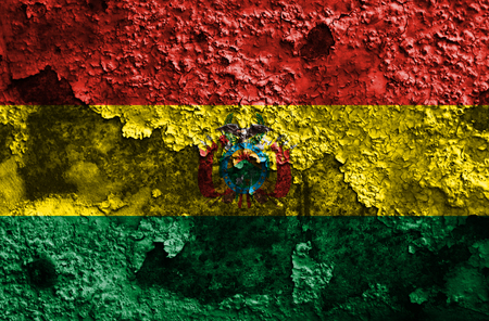 Old Bolivia grunge background flag