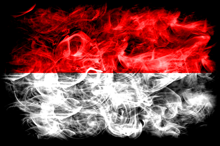 Indonesia smoke flag Stock Photo