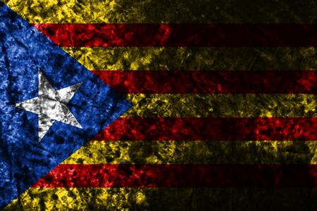 Catalonia smoke flag, dependent territory flag Stock Photo