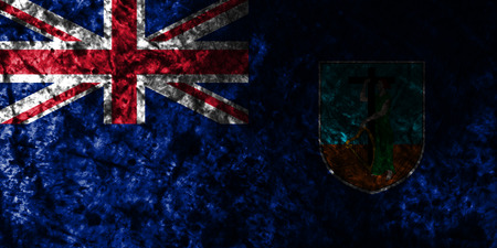 Montserrat smoke flag, British Overseas Territories, Britain dependent territory flag Stock Photo