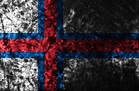 Faroe Islands smoke flag, Denmark dependent territory flag Stock Photo